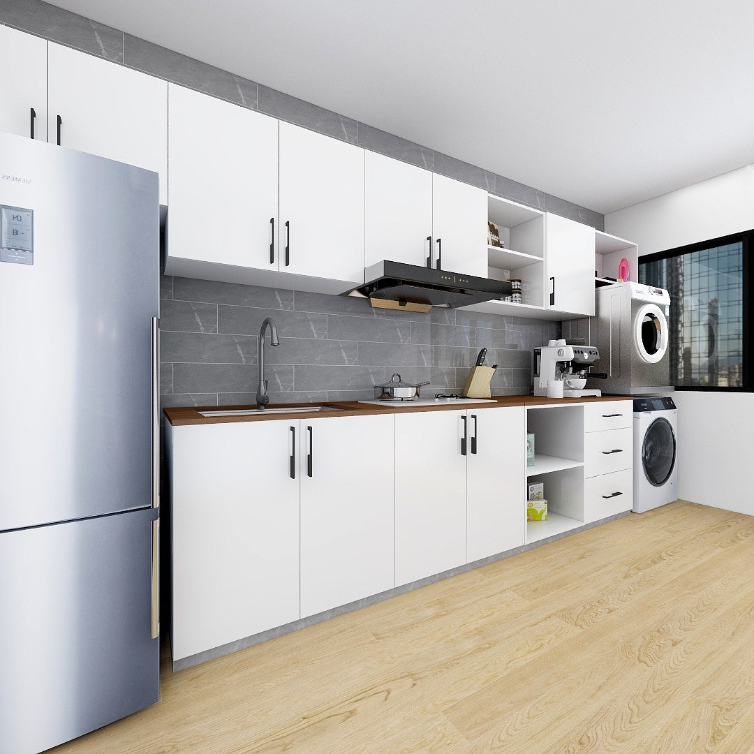 Customized 32 Feet Modern Minimalist Kitchen Cabinet White Starbuy Singapore S No 1 Furniture Art Baby Gear Meat Family Store