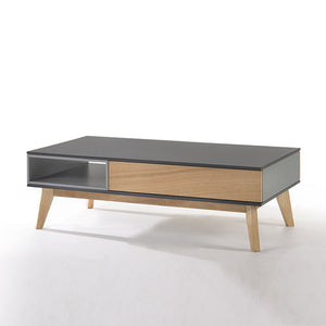 MARILYN 1-Drawer Coffee Table Col: Oak/Grey