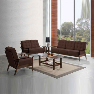 NAGOYA 3-Seater Solid Wood PU-Leather Upholstered Sofa (ITG-1298)