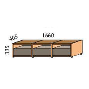 NORYA Three-Drawer TV Cabinet (1.6m) in American Black Walnut KCT1301
