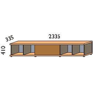 NORYA TV Cabinet (2.3m) in American Black Walnut KCF1601