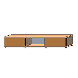 NORYA TV Cabinet (2.3m) in American Black Walnut (With 2pcs Solid Wooden Door) KCF1604