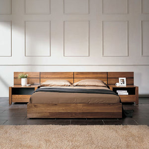 NORYA Bed (1.5m) in American Black Walnut (NYS-KACDI4-1)(STD-Q)