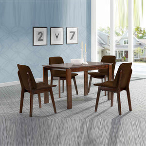 OSAKA 1.2m Solid Wood Dining Table Col: Chestnut (ITG-300)