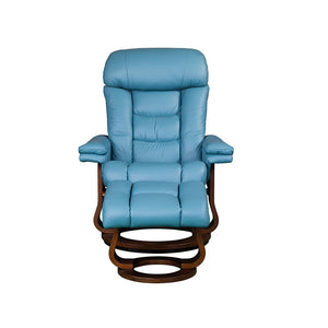 RILAXA #642 Full Top-Grain Leather Recliner Armchair + Ottoman (I) - Picket&Rail