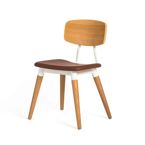 COPINE Cushion-Seat Dining Chair (MCS-SD16087AS-OAK/PU2003)