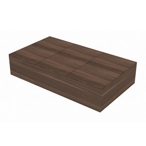 STARBUY - High Hygiene Anti-Microbial Tatami Storage Super Single Bed - Walnut