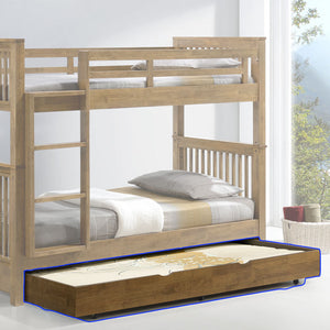 AMERICANA Solid Wood Bed Trundle