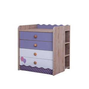 VENICE Baby 4-Drawer Chest with Shelf V-442 + V-463