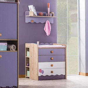 VENICE Baby 4-Drawer Chest with Shelf (V-442 + V-463)