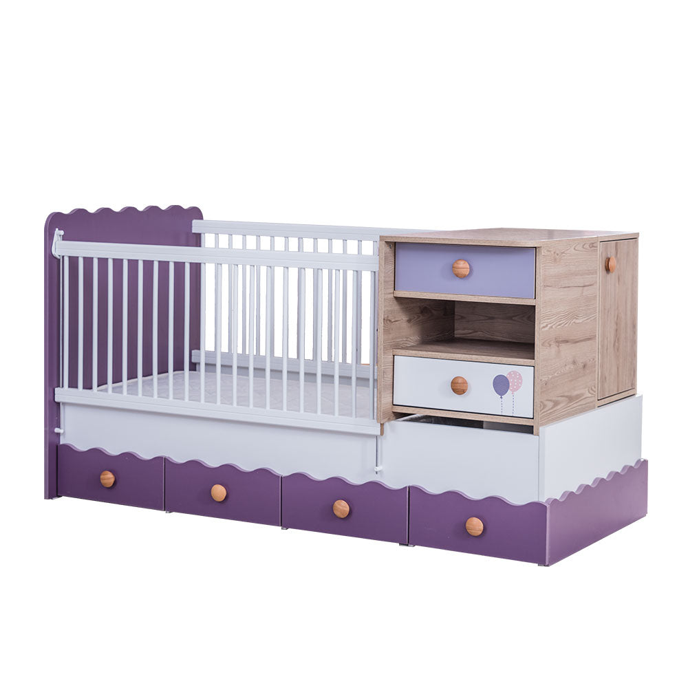 VENICE Kids Extendable Grow Baby Bed Promotion Package V-492 - Picket&Rail