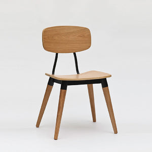 COPINE Dining Chair in American Walnut + Black Matt Powdercoated Steel Frame (MCS-SD9187-WAL/BLK)