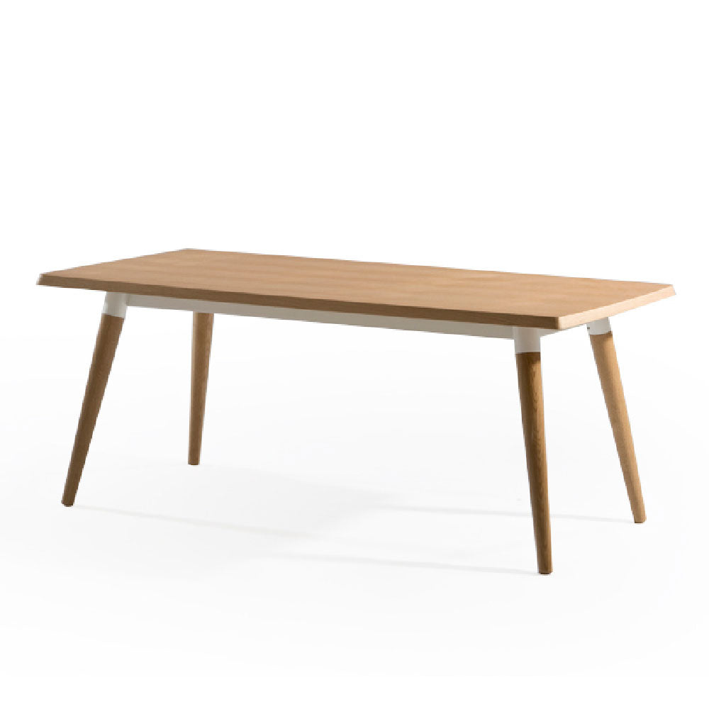 COPINE 1.6m Dining Table in American Walnut + Black Powdercoated Steel Frame (MCS-SD9191W-WAL/BLK-1600)