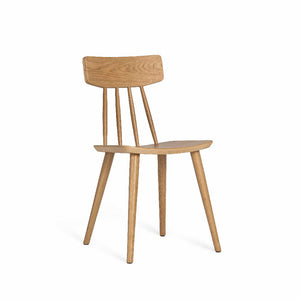 SPINDLE Dining Chair in Beech Stained in Walnut (MCS-SD9458A)