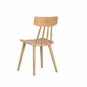 SPINDLE Dining Chair in Beech Stained in Walnut (MCS-SD9458A) - Picket&Rail