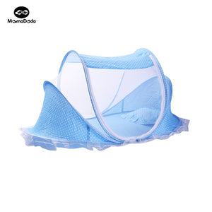 Summer Fabric Baby Playpen Foldable Baby Bed Portable With Netting Crib Traversl Cot Bassinet Portable For Single Infant Bedding