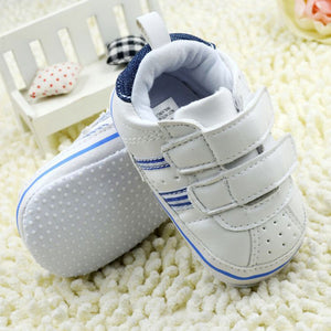 White Unisex Baby Shoes Toddler Prewalker Anti-Slip Shoe Sport Soft Baby Shoes
