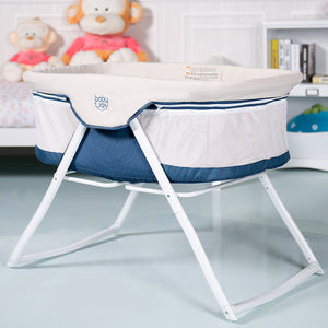 BabyJoy Foldaway Baby Bassinet Crib Newborn Rocking Sleeper Traveler Portable /Bag Beige
