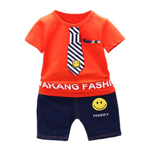 Boys Clothing Set Children Summer Boys Clothes Cartoon Kids Boy Clothing Set T-shit+Pants Cotton Clothing Set
