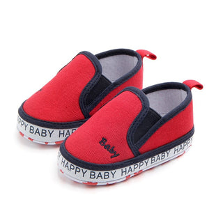 Baby Shoes Classic Canvas Embroidery Letter Baby Girl Shoes Cotton First Walker Fashion Baby Boy Shoes