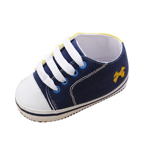 Baby Shoes  Infant first walkers Tollder Canvas Shoes Lace-up Baby Girls Sneaker Prewalker 0-18M