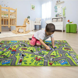 80x150cm Baby Play Crawling Rug Mat Kids Developing Mat Town City Traffic Tunnel Kids Climbing Carpet Toys For Children Play Mat
