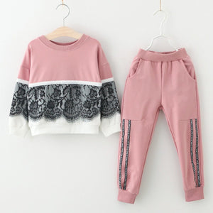 Children Clothing 2018 Autumn Winter Toddler Girls Clothes 2pcs Set Outfits Kids Clothes Tracksuit Suit For Girls Clothing Sets