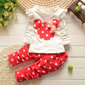 Bear Leader Baby Girls Clothes Casual Spring Baby Clothing Sets Cartoon Printing Sweatshirts+Casual Pants 2Pcs for Baby Clothes