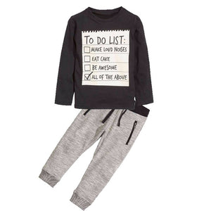 Bear Leader Boys Clothing Sets 2018 New Summer Popular Black White Letter T-Shirt + Plaid Pants Sets Hot Sale Kids 3-7Years Old