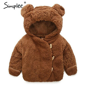 Baby Boys Fur Coats Winter Thickening Kids Jackets Clothing Baby Girls Clothes Cute Cartoon Hooded Children Coat