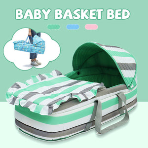 Portable Baby Bed Baby Bassinet Bed for 0-8Month Baby Basket Comfortable Newborn Travel Bed Cradle Safety Infant Bassinet Crib