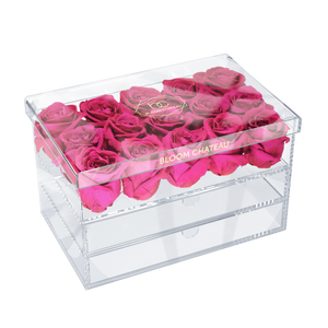 box of preserved roses