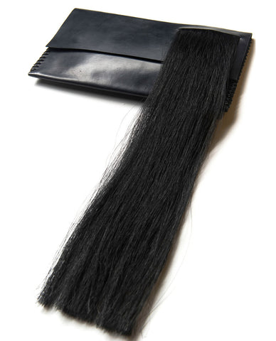 DARK HORSEHAIR CLUTCH