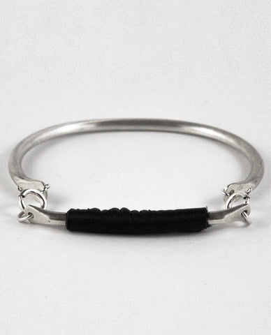 ILLUMINA BRACELET - BLACK LEATHER
