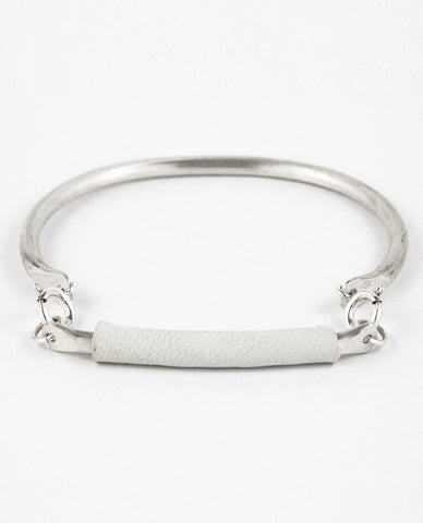 ILLUMINA BRACELET - WHITE LEATHER