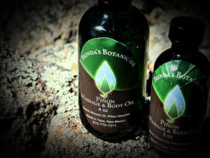 4oz Pinon Massage Oil - Brenda's Botanicals