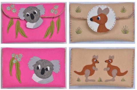 Kanga & Koala Clutch Purse