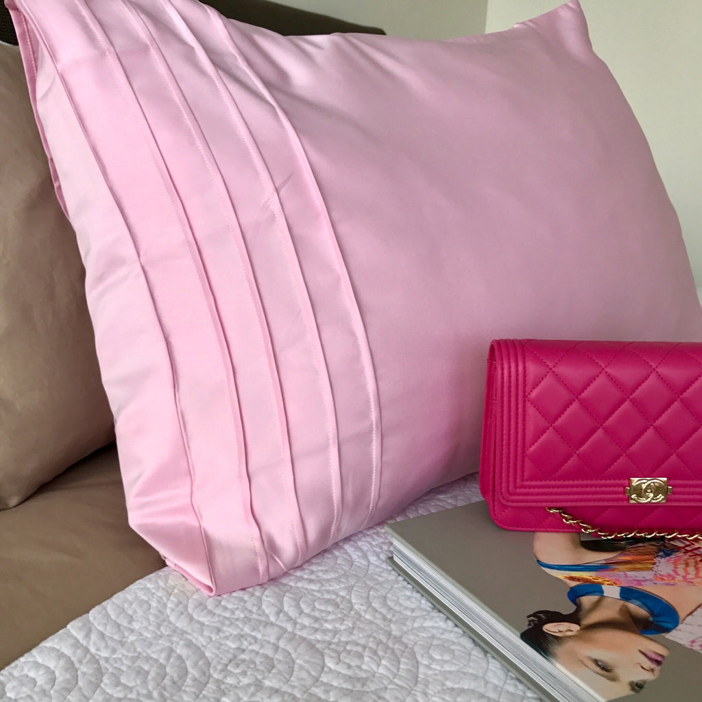 'European Size' 100% Satin Pillow Case for Hair, Skin & Lashes. Available in 3 Shades.