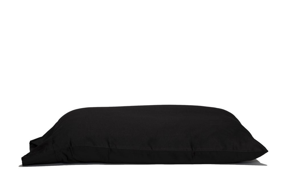 'Black Truffle' Luxe Satin Pillowcase. Anti-aging, machine washable, with the bonus secret pocket.