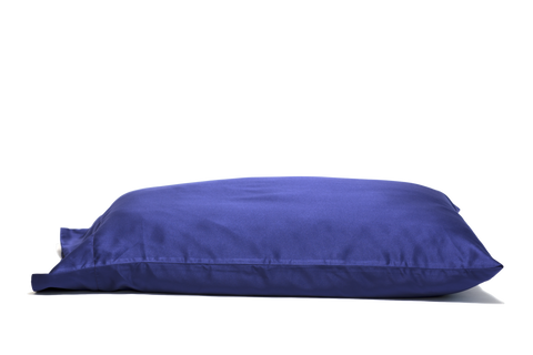 'Zinfully Blue' Luxe Satin Pillowcase. Anti-aging, machine washable, with the bonus secret pocket.