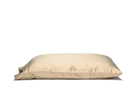 'Nappuccino' 100% Satin Pillowcase. Anti-aging, machine washable, with the bonus secret pocket.