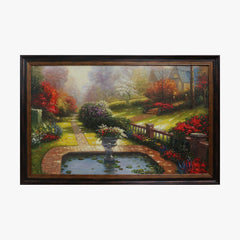 Oil Painting - Colorful Garden
