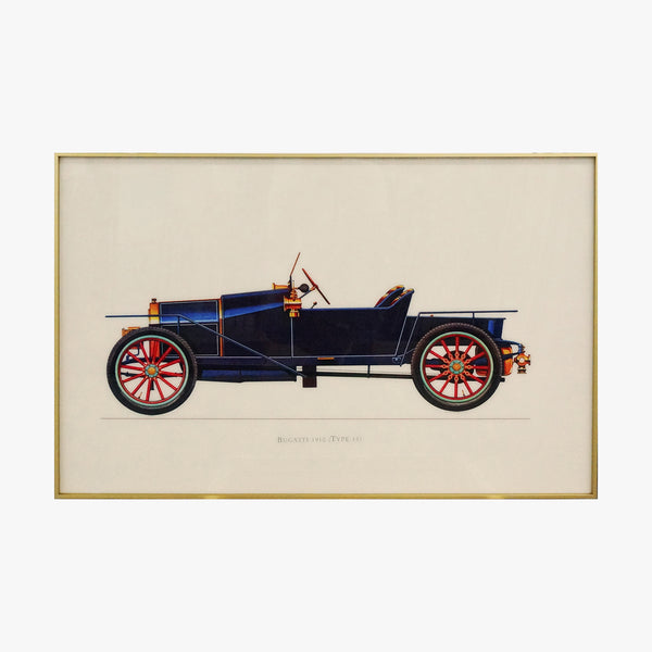 1910 Old Fashioned Car Crystal Painting