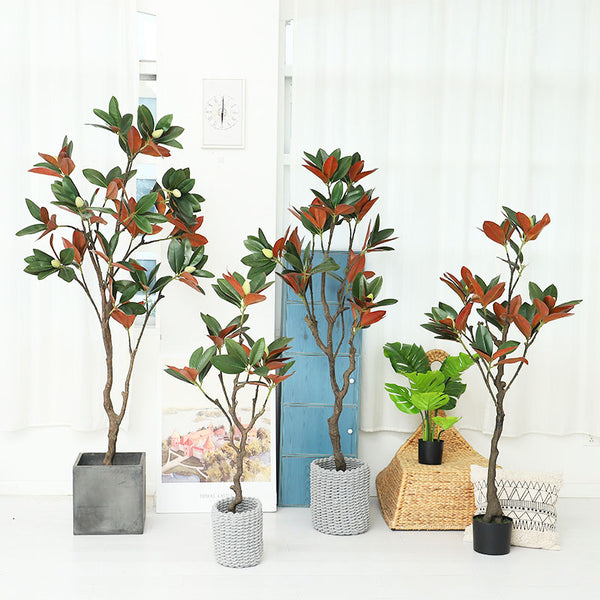 Artificial Magnolia Leaf Tree in Pot