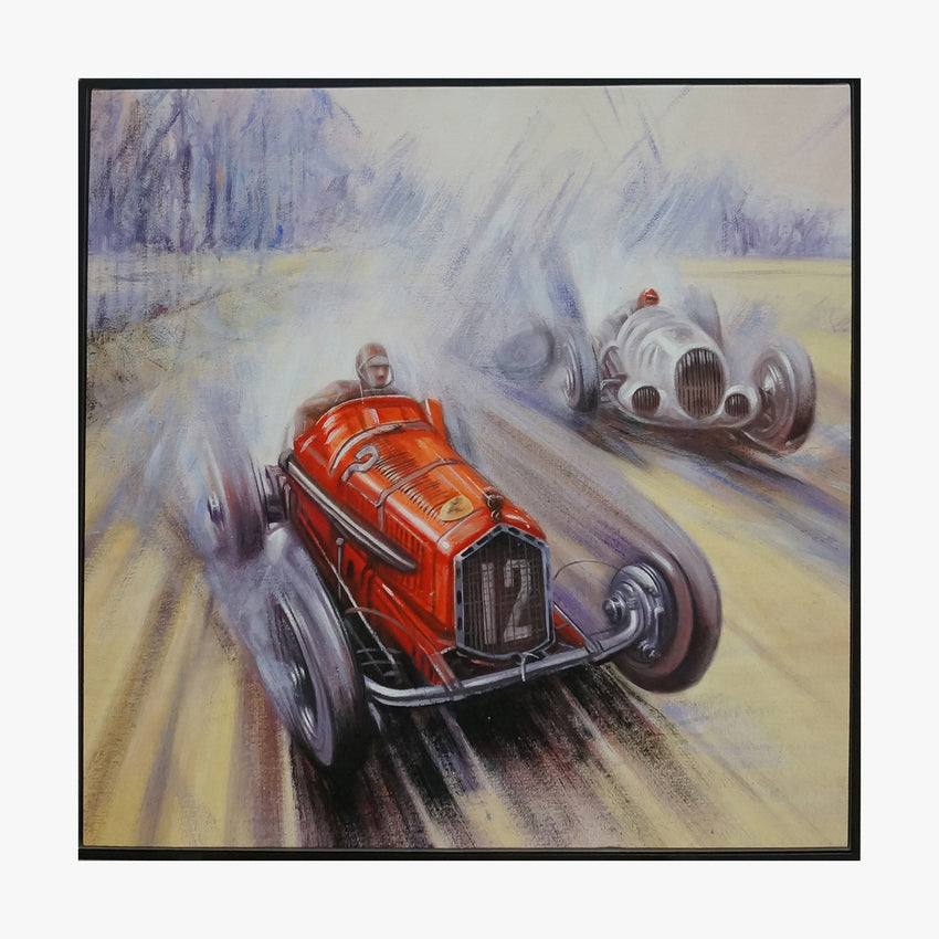 Oil Painting - Racing Car