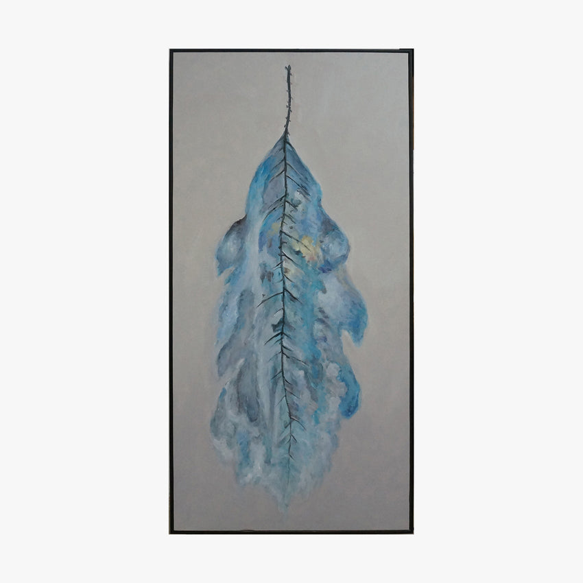 Freedom Feather Framed Framed Wall Art - Blue Feather