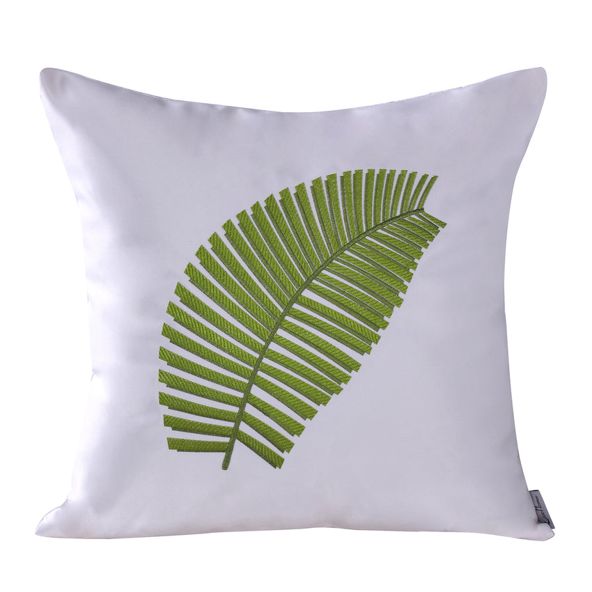 Leaf Pattern Pillow Cushionfor Spring, Green
