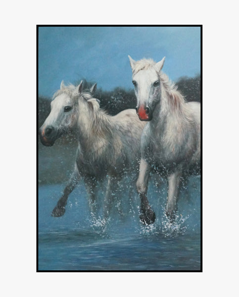 Oil Painting - Galloping Horse