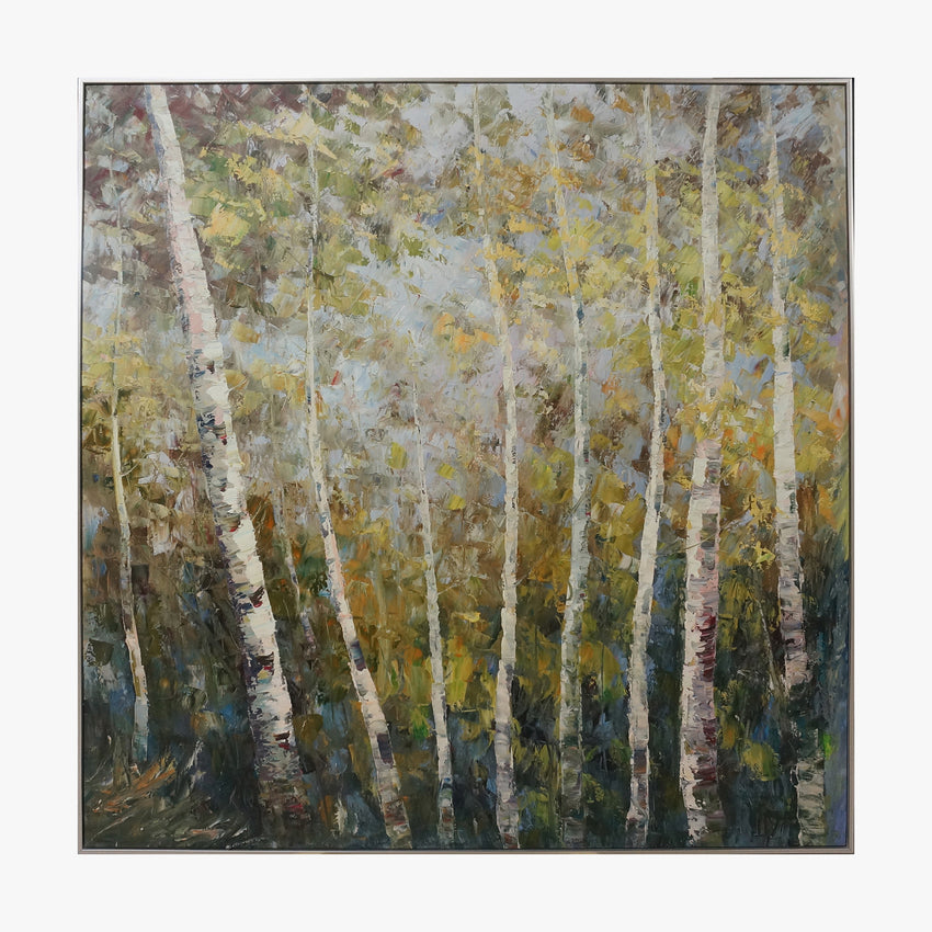 Oil Painting - White Birch
