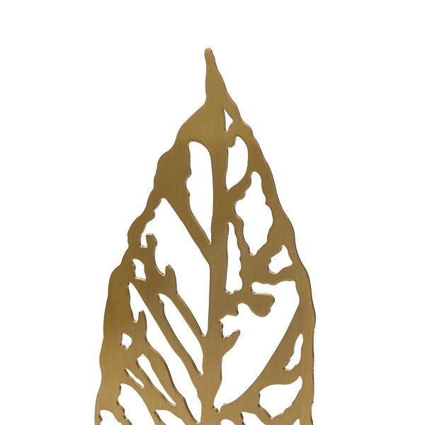 Metal Leaf Sculptures, Gold